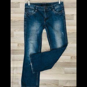 Calvin Klein white wash boot cut  mid rise Jeans